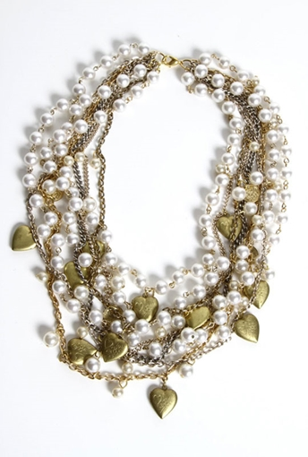 Picture of Pearl-Heart-Locks Necklace