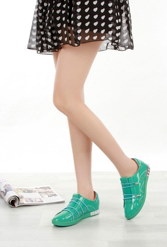 Picture of Turquoise Stylish Closed Flats